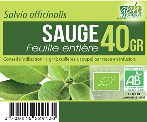 Tisane Sauge feuille Bio - 40 gr