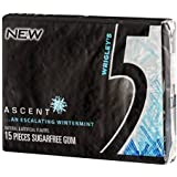 Wrigley's Ascent Wintermint 5 Gum - Sugarfree Chewing Gum 15 Pieces Per Package