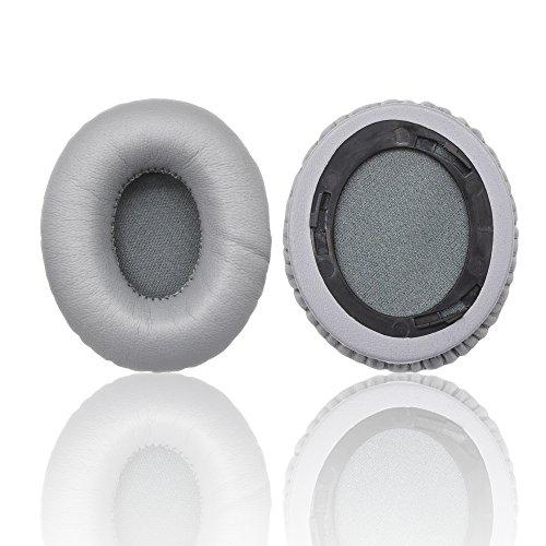 Ersatz Ohrpolster Kissen für Monster Beats by Dr. DRE Solo und Solo HD Kopfhörer mit Es ist Logo Kopfhörer Kabel Clip grau