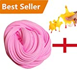 Bluester Free Slime Toy, Fluffy Floam Slime Scented Stress Relief Sensory Toy/ No Borax Bubblegum Fragrance (Pink)