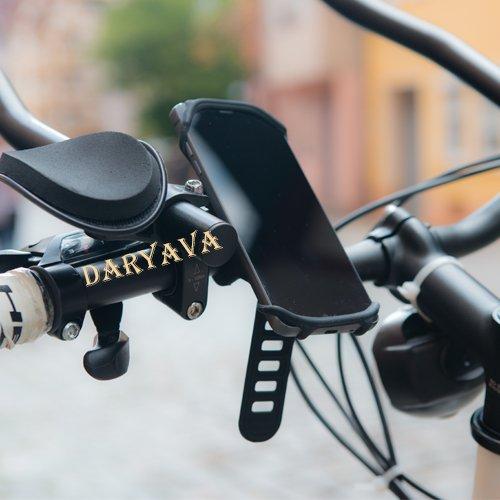 Premium Fahrrad Handyhalterung Handyhalter nur für 4.5 - 6 Zoll Geräte, Universialer Motorrad Fahrradhalter Lenkradhalterung Bike Holder aus Einzelstück geformt hochwertigem Silikon und Fahrrad Handyhalterung unzerbrechlich