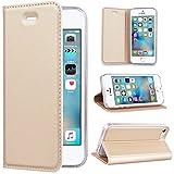 SMART LEGEND Funda iPhone 5 5S SE, iPhone 5 5S SE Funda Tipo Libro Piel PU Con Color Sólido,...