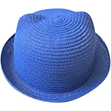 Moollyfox Sombrero de Playa Gorra Paja Verano Oreja De Gato Para Niño Niña  ... f54117fbf3d
