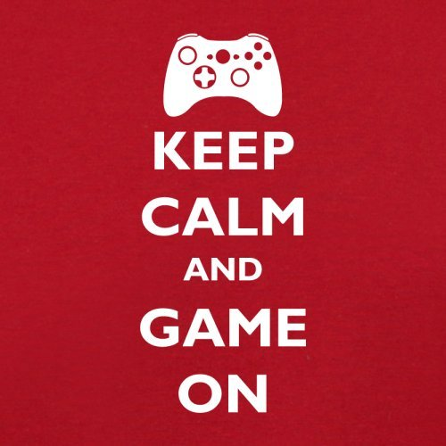 Keep calm and Game on - Herren T-Shirt - 13 Farben Rot