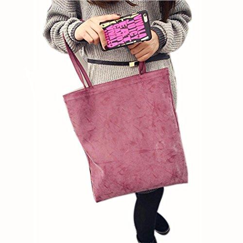 BZLine® Frauen aus weichem Lederhandtasche Cross Body Tasche, 38cm(L)*42(H)*1cm(W) Rot