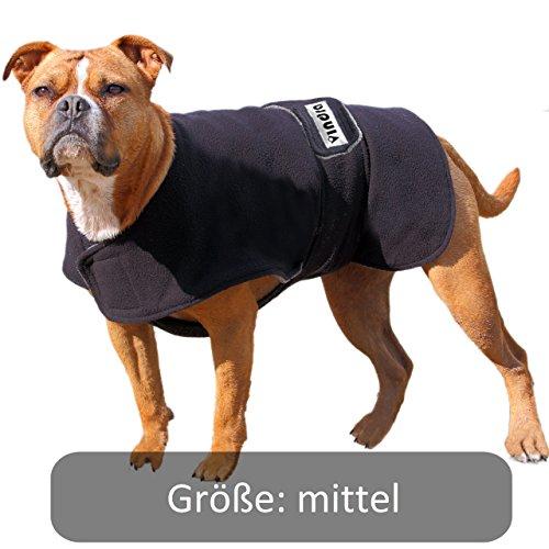 vindra Hundebademantel Fleece - Hundemantel - 4 Größen - Hals und Brust verstellbar ()