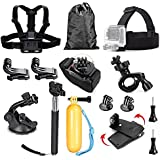 TEKCAM Sport Action Camera Basic Accessories Kit For AKASO EK5000 EK7000 4K / DBPOWER EX5000 4K Full HD 1080P Outdoor Sport Bundle