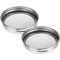 Besto nzon de 2 Pack de acero inoxidable sprouting Tapa para redondas boca Canning vasos y