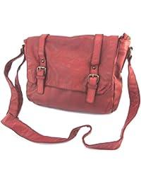 Ledertasche 'Gianni Conti'red vintage - 30x22x11 cm.
