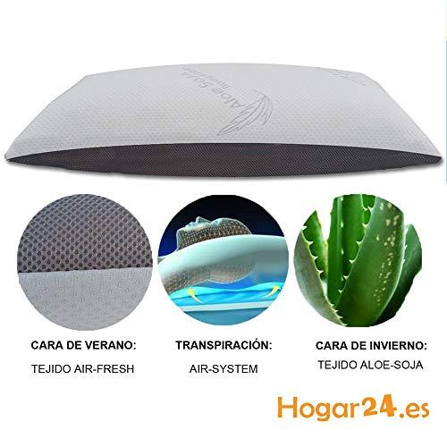 HOGAR24 ES Almohada Viscolástica Copos 3D con Tecnología Air-System. -90 cm