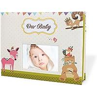 Cobee Álbum A4 de Memorias para Bebé Embalaje con Caja de Regalo de Blanco (Tamaño 31*23.5cm)