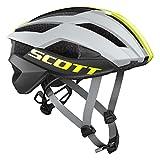 Scott Arx Plus Rennrad Fahrrad Helm grau/gelb 2018: Größe: L (59-61cm)