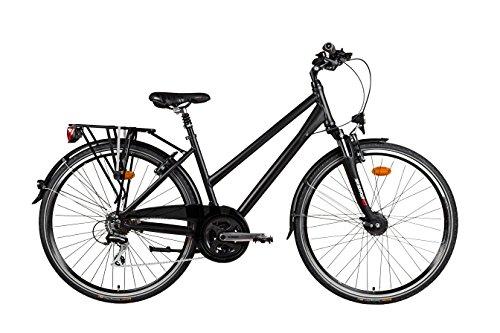 Sachsenring Bike Manufaktur Damen Trekkingrad schwarz seidenmatt M