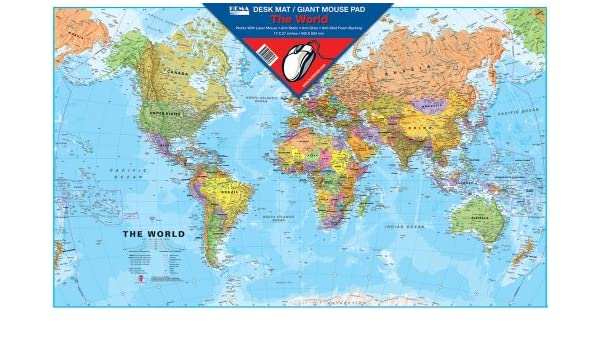 World map desk mat giant mouse pad amazon baby gumiabroncs Gallery