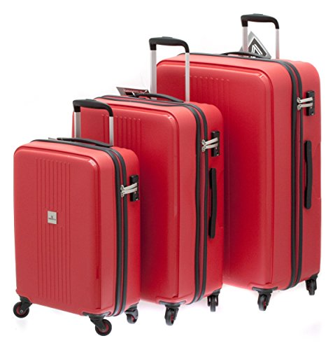 1 valise ultra-résistante taille moyenne cadenas TSA DAVIDT'S TRITON RED 65 cm