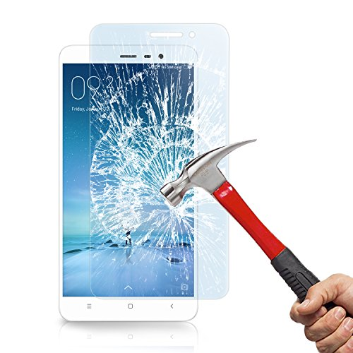 (2-Pack)Pellicola protettiva Redmi Note 3, KKtick Premium HD 9H Durezza Trasparenza ad alta definizione, Facile da installare Pellicola Protettiva Vetro Temperato per Xiaomi Redmi Note 3