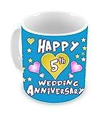 TiedRibbons® 5th wedding Anniversary Gift Coffee Mug(325ml,White) - Best Reviews Guide