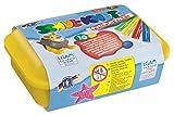 Feuchtmann Spielwaren 6280110 - Schul-Knet Knete Maxi Box, 10 Stangen in Vorratsbox