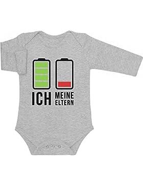 Geschenk für wache Babys und müde Eltern Baby Langarm Body