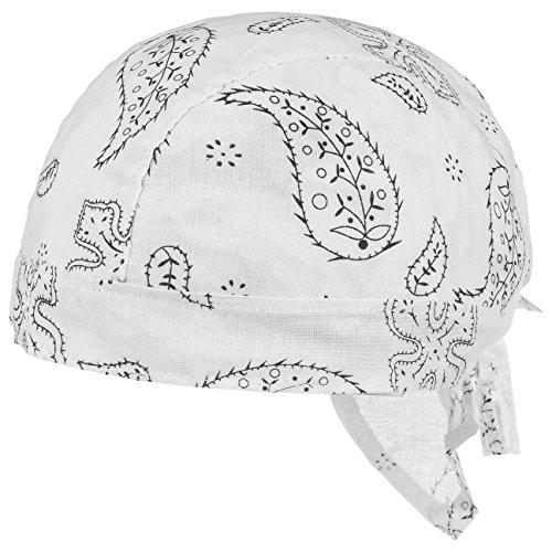 Lipodo Classic Pattern Kinderbandana   Bandana Kinder   51-55 cm   Kopftuch aus Baumwolle Frühjahr/Sommer   Sommerbandana weiß One Size (Für Bandana-outfit Jungen)