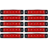 XCSOURCE 10pcs 6 SMD Phare LED Avant Latérale Arrière Clignotants Marqueurs Lampe Phare Feu Arrière Rouge pour 12V / 24V Camions / Remorques MA936