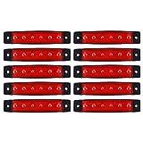 10pcs 6 SMD LED vordere hintere seitliche Markierungs-Anzeigen Lampe-Rücklicht-Licht für 12V / 24V LKW / Anhänger / Lorriess