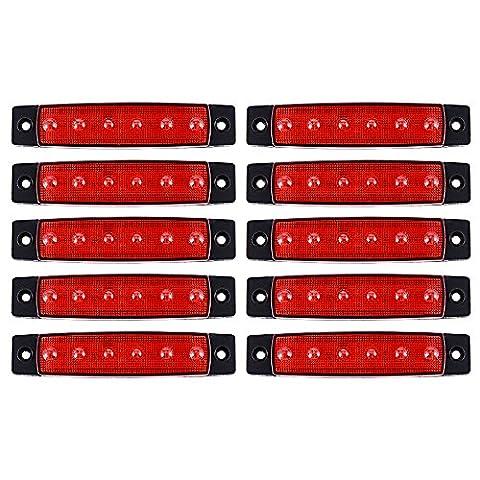 XCSOURCE 10pcs 6 SMD Phare LED Avant Latérale Arrière Clignotants