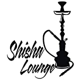 Wadeco Shisha Lounge Wandtattoo Wandsticker Wandaufkleber 35 Farben verschiedene Größen, 57cm x 66cm, schwarz