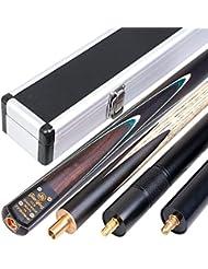 Ahorn/Esche 144,8cm handgefertigt 3/4Snooker-Queue 9.0–9,8mm Spitze + CUE Fall + Verlängerung + Minibutt + Schnell Kostenloser Versand, jianying