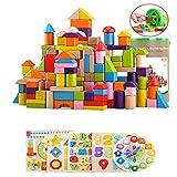 CROWNXZQ CROWNXZQ 155pcs Kinder Bausteine, Early Education Puzzle Bausteine   montiert Spielzeug Set, wasserdicht, helle Farben, mit Aufbewahrungseimer, geeignet für über 3 Jahre alt