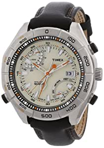 Timex Expedition Gents Watch T49792  E-Altimeter Analogue Quartz with brown Leather Strap