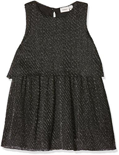 NAME IT Baby-Mädchen Kleid Nitidora Spencer WL F Mini, Grau (Black Detail:W Silver Lurex), 92 (Baby Kleid Samt)