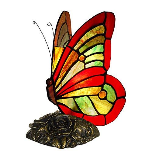Arte Dal Mondo Tiffany Lampade Da Comodino Farfalla Vetro Resina Bronzata Multicolore 23 X 13 X 19 Cm Prezzi E Offerte Market Patentati