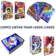 120 GX Pokemon Cards, Pokemon GX Cards, Pokemon Flash Card, Trading Card, Puzzle Fun Card Game