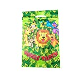 ZZbaixinglongan remarkable Party Animal Pack Childrens Birthday Set Tableware Supplies Lion Decoration(None Gift Bag 10PCS)