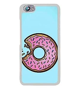 Doughnut Bite 2D Hard Polycarbonate Designer Back Case Cover for Micromax Canvas Fire 4 A107
