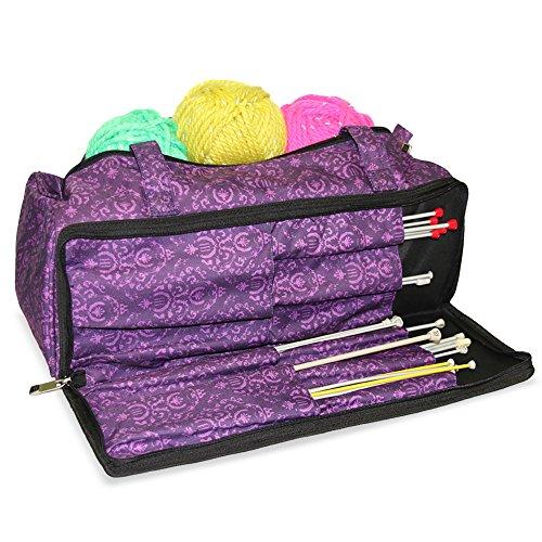 Strick-Tasche, Näh-Zubehör und Handwerk Nadel Speicher Organizer Fall In Imperial Purple