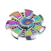 Walwh Wind Wheel Colorful Zinc Alloy Hand Spinner Fidget Finger Toy