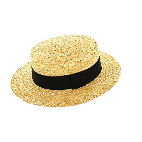 Votrechapeau - Sombrero de paja auténtica Paille naturelle 63 cm