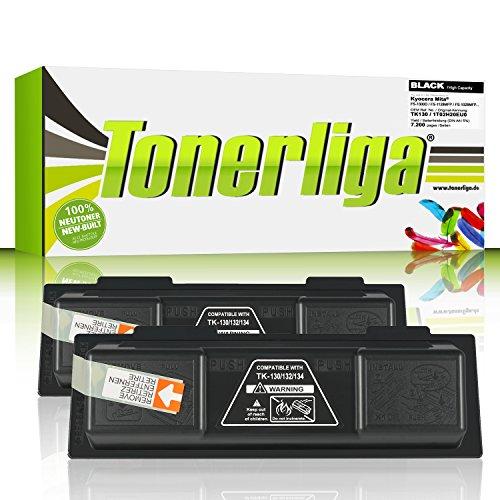 Preisvergleich Produktbild 2x Neu Toner ersetzen Kyocera TK 130 / TK130 für FS 1300D / FS 1128MFP / FS 1028MFP / FS 1350DN, schwarz, 100% Neuware