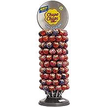 Chupa Chups, Caramelo con Palo Sin Azúcar de Sabores Variados - Rueda de 120 unidades