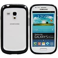 Nueva Carcasa Cover Funda en Silicona y Policarbonato para Samsung Galaxy S3 Mini - Negro