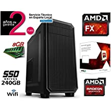 PC ORDENADOR SOBREMESA AMD FX 6300 SIX CORE | SSD 240GB | 8GB RAM | RW DVD| ATI HD Graphics | WIFI