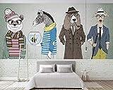 HONGYUANZHANG Nettes Gentleman-Tier Tapete Des Foto-3D Künstlerische Landschafts-Fernsehhintergrund-Tapete,68Inch (H) X 100Inch (W)