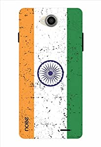 Noise Rugged Indian Flag Printed Cover for Intex Aqua Slice 2