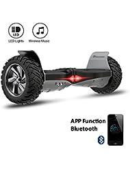 "EVERCROSS Hoverboard Challenger Basic 8,5"" Gyropode Tout-terrain Smart Skateboard Électrique (Noir)"