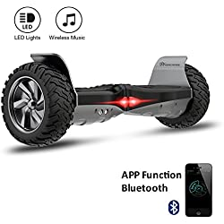 "EVERCROSS 8.5"" Hoverboard Scooter Patinete del mano Eléctrico Bluetooth APP self balancing (Negro)"