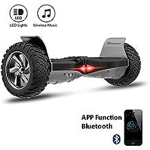 "EVERCROSS Hoverboard Challenger Basic 8,5"" Gyropode Tout-terrain Smart Skateboard Électrique de Boutique GyroGeek (Noir)"