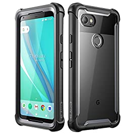 Google Pixel 2 XL case, i-Blason [Ares] Full-body Rugged Clear Bumper Case with Built-in Screen Protector for Google Pixel 2 XL 2017 Release