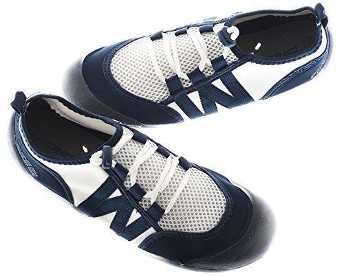 Cressi Elba Pool Shoes, Scarpette Ideali per Mare, Spiaggia, Barca, e Sport Acquatici Vari Unisex Adulto, Blu, 41
